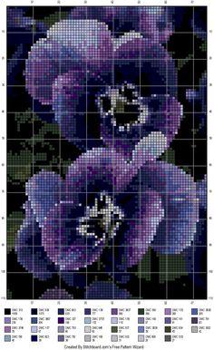 Punto de cruz - Pensamiento 123 Cross Stitch, Cross Stitch Boards, Beaded Cross Stitch, Cross Stitch Flowers, Cross Stitch Designs, Cross Stitch Embroidery, Embroidery Patterns, Cross Stitch Patterns, Cross Stitching