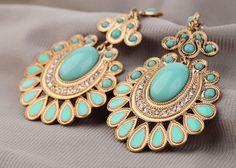 Bohemia Fashion Crystals Blue Drop Earrings  #Unbranded #DropDangle