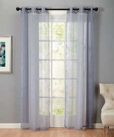 Another great find on #zulily! Marine Blue Beverly Embossed Voile Curtain Panel - Set of Two #zulilyfinds