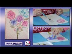 Tips para pintar con la técnica de acrílicos acuarelados - YouTube
