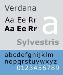 Verdana is a humanist sans-serif typeface designed by Matthew Carter for Microsoft Corporation, with hand-hinting done by Thomas Rickner, then at Monotype.