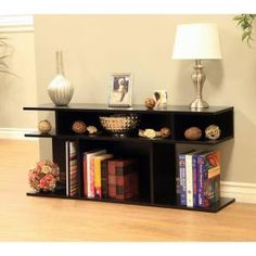 MegaHome Black Console Table-MH506 - The Home Depot