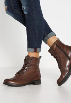 Tamaris - Bottines à lacets - nut