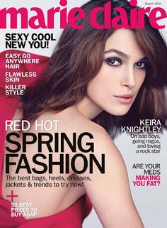 Keira Knightley covers the March issue of Marie Claire. Keira Knightley does her best at appearing less ethereal in her latest intervi. Keira Knightley, Keira Christina Knightley, Celebrity Pictures, Celebrity News, Celebrity Weddings, Marie Claire Magazine, Fashion Magazine Cover, Magazine Covers, Vogue Magazine