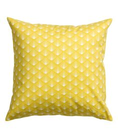 Check this out! Cushion cover in cotton twill with a printed pattern. Concealed zip. - Visit hm.com to see more.