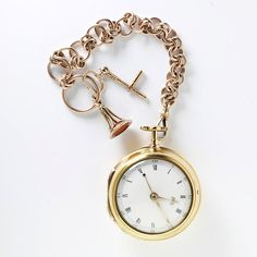Watch, Fob, and Chain, circa 1786