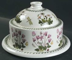 "Amazon.com: Portmeirion Botanic Garden Cheese Dome with 10"" Plate, Fine China Dinnerware: Kitchen Dining"