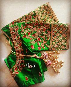 No photo description available. Wedding Saree Blouse Designs, Half Saree Designs, Pattu Saree Blouse Designs, Blouse Designs Silk, Blouse Designs Catalogue, Kids Blouse Designs, Simple Blouse Designs, Blouses, Aari Work Blouse