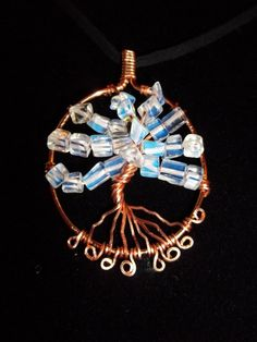 Moonstone and Natural Copper Tree of Life Necklace by Oldacres, $16.00