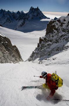 Stian Hagen en pleine descente
