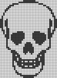 Alpha friendship bracelet pattern added by Admin. Crochet Skull Patterns, Bead Loom Patterns, Crochet Stitches Patterns, Cross Stitch Designs, Cross Stitch Patterns, Cross Stitching, Cross Stitch Embroidery, Casa Medieval Minecraft, Cross Stitch Skull