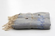 indigo embroidered cotton versawrap by doodle by stitch | notonthehighstreet.com