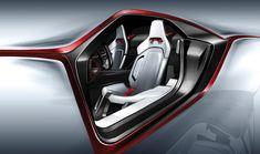 Italdesign Parcour Roadster Concept - Interior Design Sketch