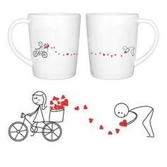 """BoldLoft """"All My Love for You"""" Couple Coffee Mugs-Christmas Gift Ideas for Couples,Romantic Christmas Gifts for Him or for Her,Cute Christmas Gifts"""