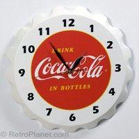 Coca Cola Bottle Cap Clock #retro #coke http://www.retroplanet.com/PROD/31806