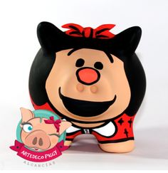 Mafalda - 25.000  3188602780 Paola Suárez Pig Bank, Personalized Piggy Bank, Mini Pigs, Animals And Pets, Pikachu, Minnie Mouse, Disney Characters, Fictional Characters, Lily