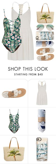"""""""Brittany"""" by brie-the-pixie ❤ liked on Polyvore featuring Jack Rogers, River Island, Mara Hoffman, Style & Co., Casetify, Gucci, summerstyle, summer2017 and teammannequin"""