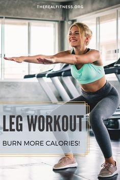 A leg workout is one of the most effective fast and convenient way to burn calories improve your physique and also get some other fitness benefits. Weight Training Workouts, Easy Workouts, Yoga Poses For Beginners, Workout For Beginners, Squat Exercise, Benefits Of Squats, Full Leg Workout, How To Start Exercising, Gym Routine