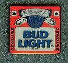 Vintage Budweiser Bud Light Beer Bottle Label Collectors Pin New