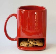 I think a donut would fit perfectly in that yummy little space and hot chocolate in the mug!!!!!