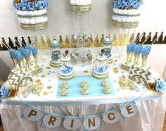Little Prince Baby Shower Candy Buffet par PlatinumDiaperCakes