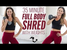 35-Minute Full Body Shred Workout with Weights for Strength & Cardio - YouTube