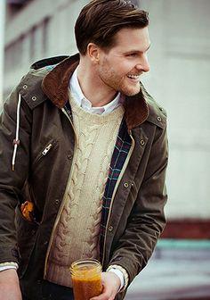 G1ジャケット×ケーブル編みセーターの着こなし(メンズ) | Italy Web