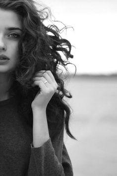 Windblown curls. | mydeeduniverse: Anna Koshechkina | via Tumblr on We Heart It