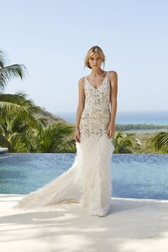 Amanda Wakeley Aphrodite Wedding Dress From The Sposa Mustique Collection | www.onefabday.com