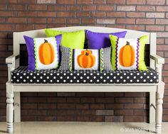 Perk up your porch for Halloween with these spunky DIY pillows!