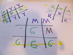 Practice tricky letter by playing tic tac toe