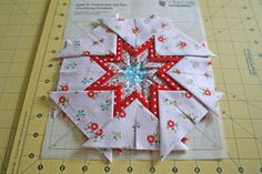lovely little handmades: a folded star tutorial!