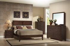 Gorgeous Silvia Bedroom Set - 5pc Set Includes: Queen Bed, Dresser, Mirror, Chest, and Nightstand - $849!  http://www.furnitureurban.com