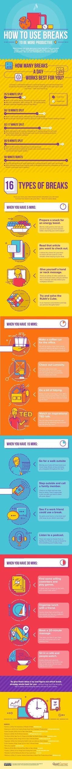 How to be your more productive, take a step back from your work. Learn to take breaks, every hour.