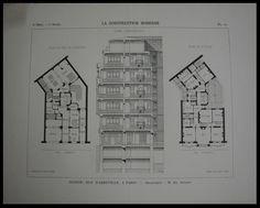 European Apartment, Apartment Plans, Construction, Paris, Architecture Plan, Rue, Apartments, House Plans, Floor Plans