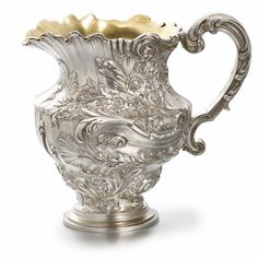 A Fabergé Silver Cream Pitcher, Moscow, circa in the neo-Rococo taste Vintage Silver, Antique Silver, Faberge Eier, Russian Art, Russian Beauty, In Vino Veritas, Objet D'art, Precious Metals, Gemstones