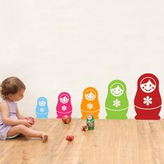 CoolWallArt.com: Babushka kids Wall Decal, $54.95