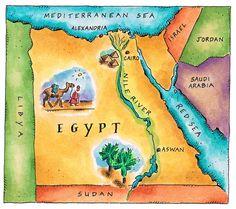 Map Of Egypt Digital Art  - Map Of Egypt Jennifer Thermes