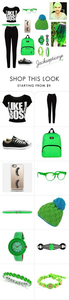 """Jacksepticeye"" by lizzeleheart on Polyvore featuring EAST, Converse, Dickies, Casetify, Italia Independent, Dsquared2, Crayo, Allurez and Ettika"