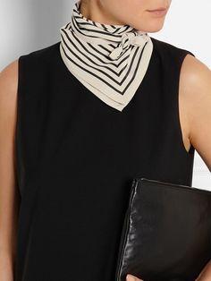 Toteme Striped Silk-Faille Scarf