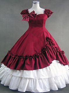 steampunk®gothic weinrot lolita Kleidkleid Renaissance Faire Kleidung