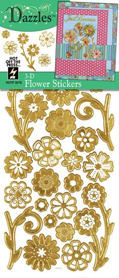 Gold Self Adhesive Swirl Peel Off Stickers Sheet Foil Card Embellishments Crafts