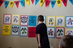 An Organized Family: Transformers Birthday Party