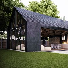 modern barn style via juxtaposition home Modern Barn House, Minimal Living, Exterior Design, Future House, Building A House, Architecture Design, New Homes, House Styles, Landscaping Software