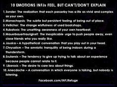 10 emotions INFJs can feel but can't or don't explain. | INFJ Refuge