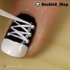 Nail DIY tutorial. By @double8_shop  How To: Conserve Shoe Nail Art  By: @cutepolish  #nailideas #nail #nailart #nailpolish #nailhowto #nailtutorial #nailartdesign #naildiy #tutorial #tutorials #instructions #instruction #diy #nailartjunkie #diyideas #diyproject #doityourself #conserveshoes #ideas #nailpictorial #nailarts #cutepolish #nailartwow #nailartaddict #tutoriales #diyfashion #diynails #manicure #stepbystep #pictorial