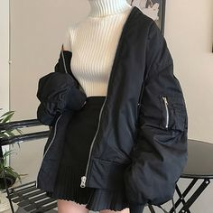 Look at this Stylish korean fashion outfits Edgy Outfits, Teen Fashion Outfits, Korean Outfits, Mode Outfits, Retro Outfits, Grunge Outfits, Cute Casual Outfits, Cute Fashion, Girl Outfits