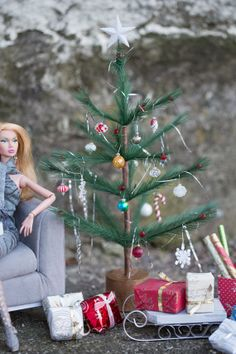 Large German feather like Christmas tree by BlinkydollsBoutique, $18.00