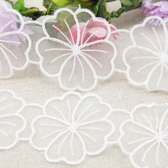 fiber Flower Lace Trim pearl Embroidery Sewing Fabric lace DIY Garment Accessories 1 yards,DIY handmade materials,1Y50098-in Lace from Home & Garden on Aliexpress.com | Alibaba Group