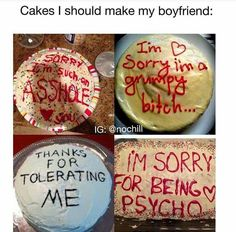 Cakes for the boyfriend